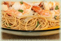 Wine Imbiber » Shrimp Scampi Over Pasta