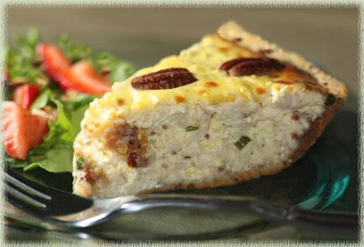 Chicken–Pecan Quiche
