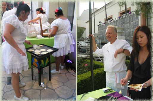 Ladies from Teresitas (left) & John Sedlar (right) at East LA Meets Napa