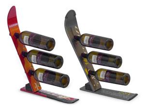 Snow Ski Wine Rack from uncommon goods