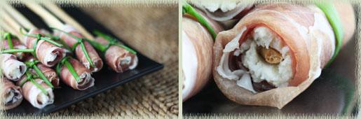 Grissini with Prosciutto-Wrapped Boursin Bundles