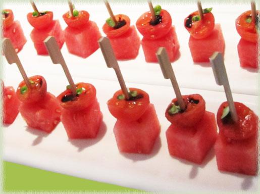 Watermelon Tomato Bites