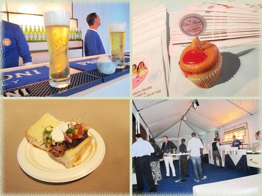 Peroni Beer Lounge, PB&J Cupcake from Cake Mamas & a Burger