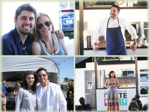 Chef Ludo & Krissy Lefebvre; Scott Conant; Aarti Sequeira; Food Network's Claire Robinson & Scott Conant