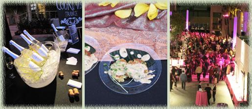 Le Grande Courtage; Thai Shrimp Cakes; Event Scene