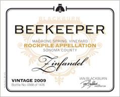 Beekeeper 2009 Zinfandel Label
