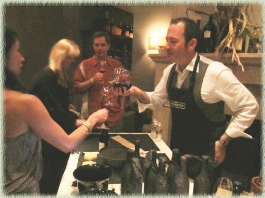 Ian pouring his 2009 Beekeeper Zin