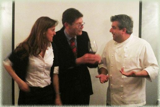 Barbara Briziarelli, Luigi Cremona & Chef Nico Chessa