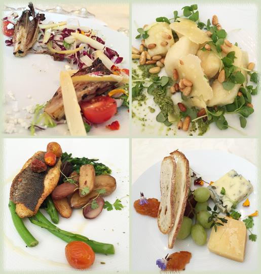 White Asparagus Radicchio Salad; Housemade Gnocchi; Loup de Mer (Branzino); Cheese Plate