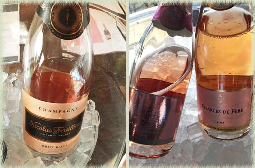 Champagne Nicolas Feuillatte NV Brut Rose; Charles de Fere NV Cuvee Jean-Louis Brut Rose; Charles de Fere NV Reserve Rose