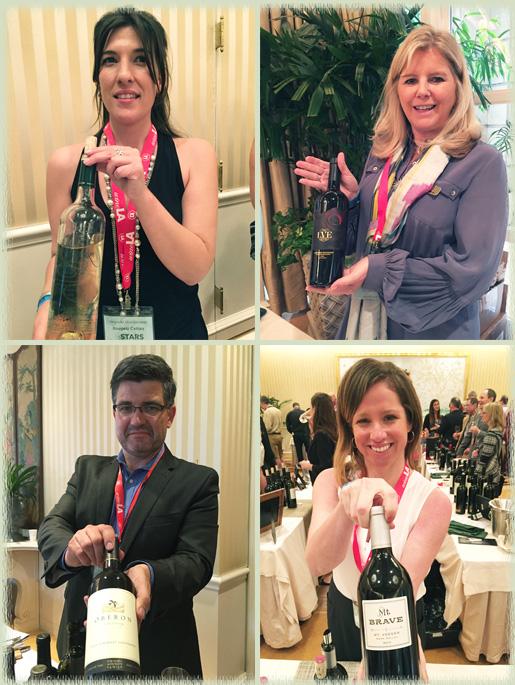 Representatives of Bougetz Cellars; Raymond Vineyards; Mt. Brave Wines; Oberon Wines