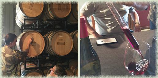 Mike Mooney blending wine