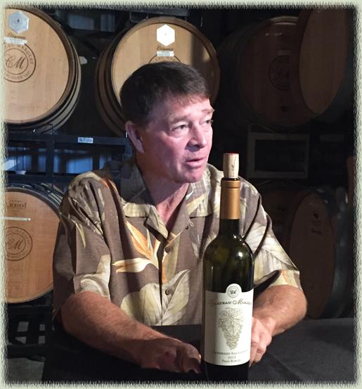 Mike Mooney in his barrel room