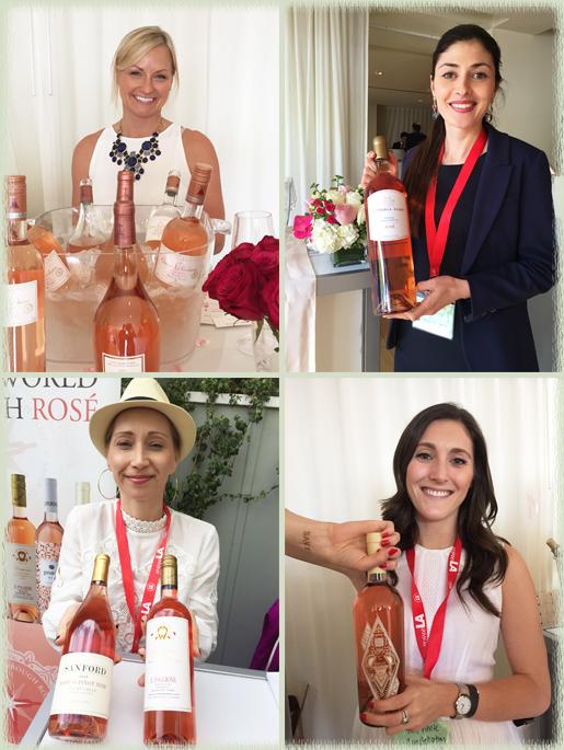 Some wines of La Nuit en Rose