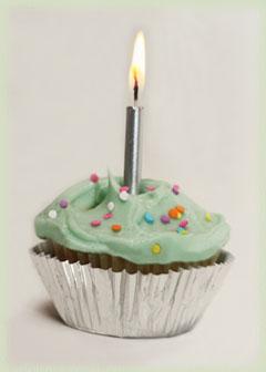 Wine Imbiber 1st Anniversary Cupcake