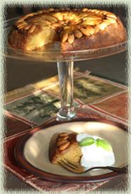 Apple–Almond Upside Down Cake