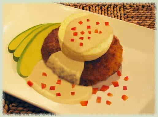 Caribbean Crab Cakes Benedict