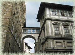 Part of the Vasari Corridor between the Palazzo Vecchio & the Uffizi