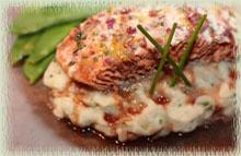 Roast Salmon with Balsamic Honey Wine Reduction