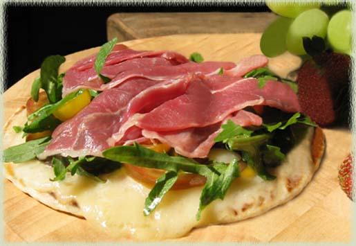 Tuscan Style Pita Pizzas